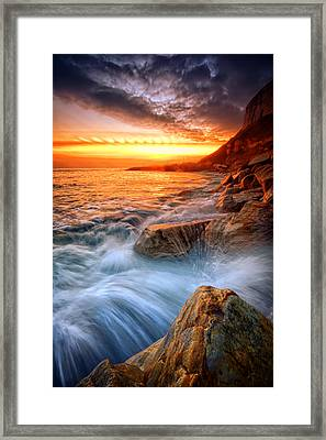 Rock A Nore Splash Framed Print by Mark Leader