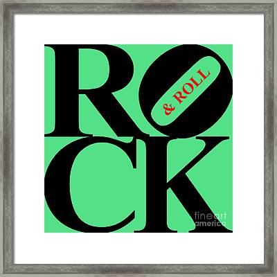 Rock And Roll 20130708 Black Green Red Framed Print by Wingsdomain Art and Photography