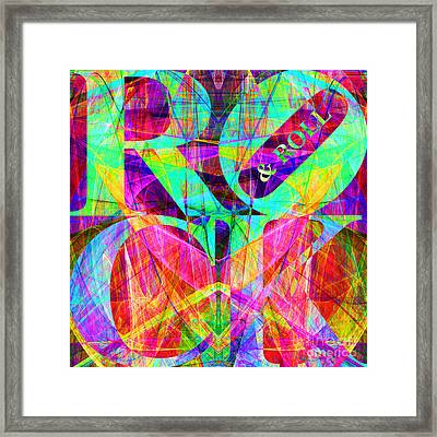 Rock And Roll 20130708 Fractal Framed Print by Wingsdomain Art and Photography