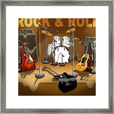 Rock And Roll Meltdown Framed Print by Mike McGlothlen
