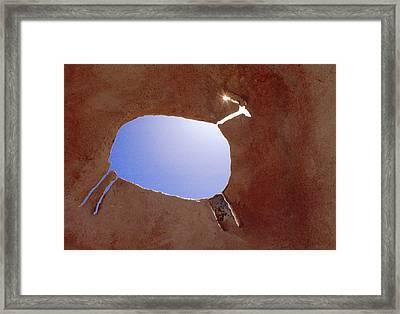 Rock Art Framed Print by Jerry McElroy
