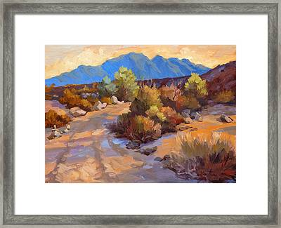 Rock Cairn At La Quinta Cove Framed Print by Diane McClary