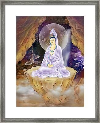 Rock Cave Avalokitesvara  Framed Print by Lanjee Chee