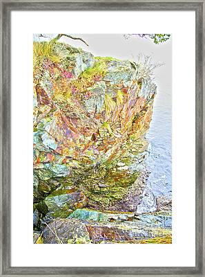 Rock Colour Framed Print by Graham Foulkes