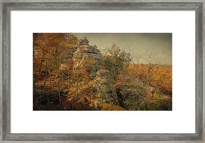 Rock Formation Framed Print by Sandy Keeton