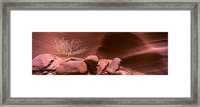 Rock Formations, Antelope Canyon, Lake Framed Print by Panoramic Images