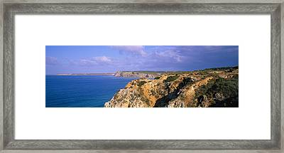 Rock Formations At A Seaside, Algarve Framed Print by Panoramic Images
