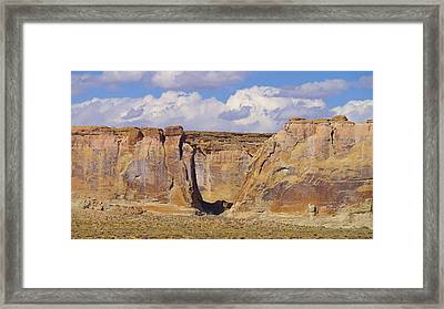 Rock Formations At Capital Reef Framed Print by Jeff Swan