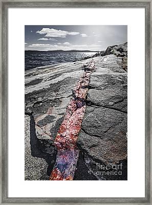 Rock Formations At Georgian Bay Framed Print by Elena Elisseeva