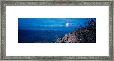 Rock Formations At Night, Yaki Point Framed Print by Panoramic Images