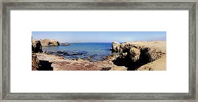 Rock Formations On The Beach, Marcona Framed Print by Panoramic Images