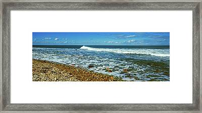 Rock Formations On The Beach, Montauk Framed Print by Panoramic Images