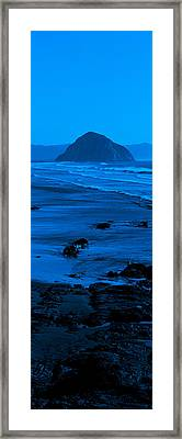 Rock Formations On The Beach, Morro Framed Print by Panoramic Images