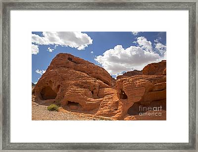 Rock Formations Valley Of Fire Framed Print by Jane Rix