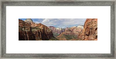 Rock Formations, Zion National Park Framed Print by Panoramic Images