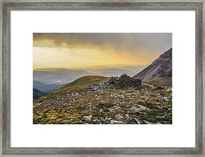 Rock House Ruins Framed Print by Aaron Spong