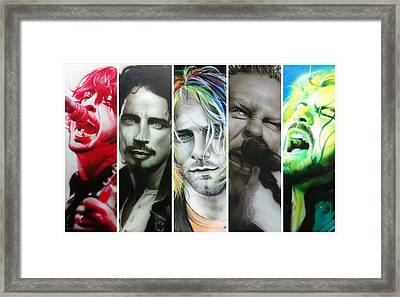 Collage - ' Rock Montage I ' Framed Print by Christian Chapman Art
