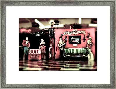 Rock 'n' Roll Is Here To Stay Framed Print by Ellen and Udo Klinkel