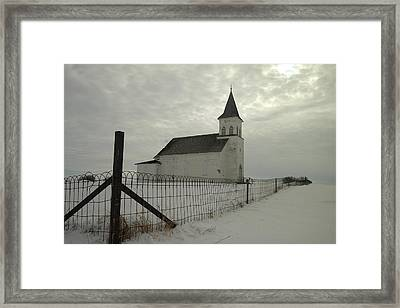 Rock Of Ages In North Dakota Framed Print by Jeff Swan