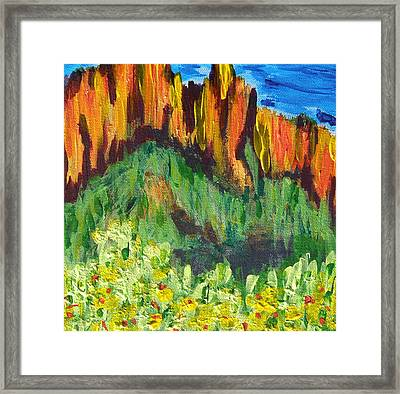 Rock Of Many Colors Framed Print by Marcia Weller-Wenbert