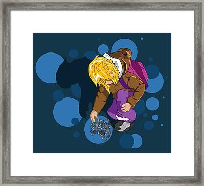 Rock Searching Framed Print by Mellisa Ward