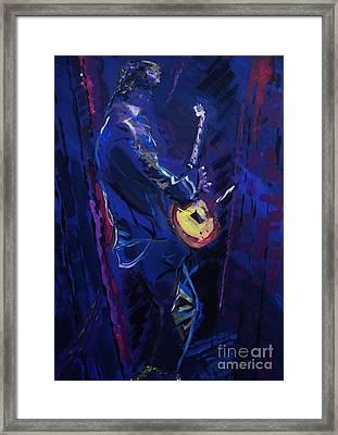 Rhythm In Blue Framed Print by Elizabeth Briggs