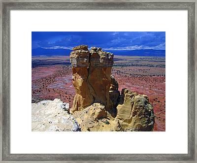 Rock Statue Framed Print by Mike Podhorzer