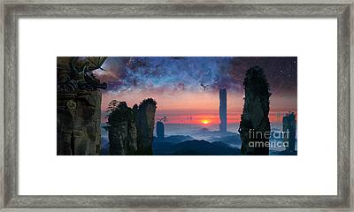 Rock Towers Framed Print by Paul Davenport
