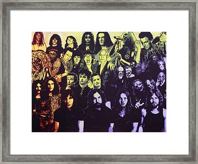 Rock Triptych - Panel C Framed Print by Bobby Zeik