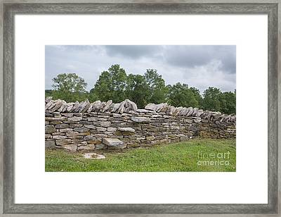 Rock Wall Steps Framed Print by Kay Pickens