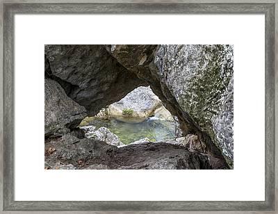 Rock Window Framed Print by David Morefield