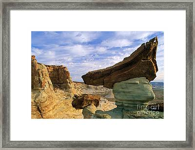 Rock With Triangular Hat Framed Print by Inge Johnsson