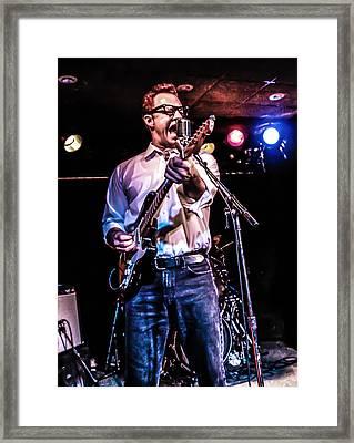 Rockabilly Cat Framed Print by Ray Congrove