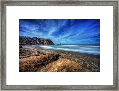 Rockaway Beach Pacifica California 1  Framed Print by The  Vault - Jennifer Rondinelli Reilly