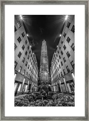 Rockefeller Center - New York 1 Framed Print by Larry Marshall