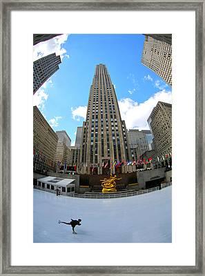 Rockefeller Center Framed Print by Mitch Cat