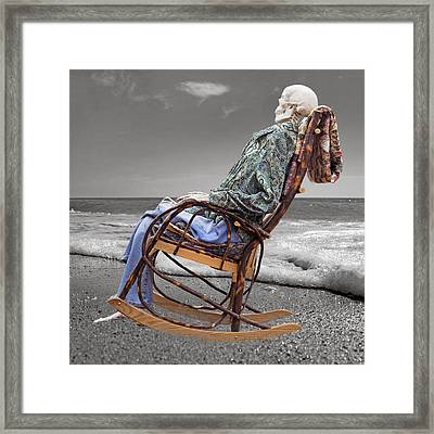 Rocker Rocking On Framed Print by Betsy Knapp
