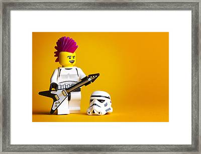 Rockin' Out Framed Print by Samuel Whitton