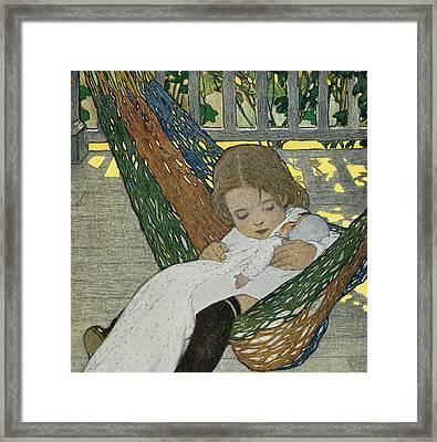 Rocking Baby Doll To Sleep Framed Print by Jessie Willcox Smith