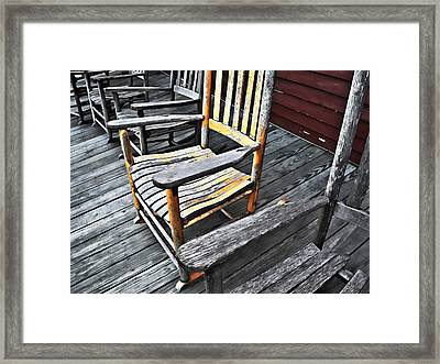 Rocking Chairs Framed Print by Patrick M Lynch