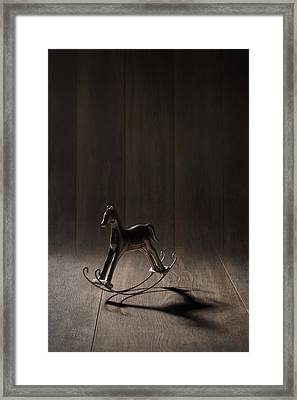 Rocking Horse Framed Print by Amanda And Christopher Elwell