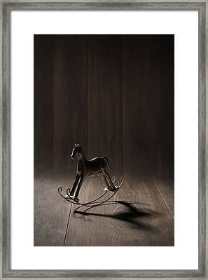 Rocking Horse Framed Print by Amanda Elwell