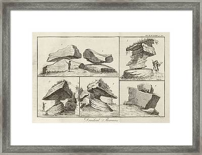 Rocking Stone Framed Print by Middle Temple Library