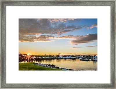 Rockland Sunset Framed Print by Tim Sullivan