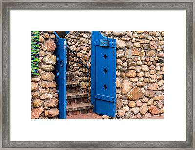 Rock'n Blue Door Framed Print by Steven Bateson