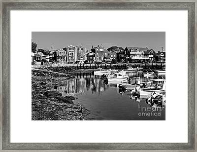 Rockport Harbor - Bw Framed Print by Nikolyn McDonald