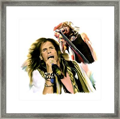 Rocks Gothic Lion II  Steven Tyler Framed Print by Iconic Images Art Gallery David Pucciarelli
