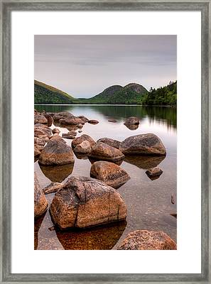 Rocks In Pond, Jordan Pond, Bubble Framed Print by Panoramic Images