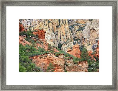 Rocks Of Sedona Framed Print by Carol Groenen