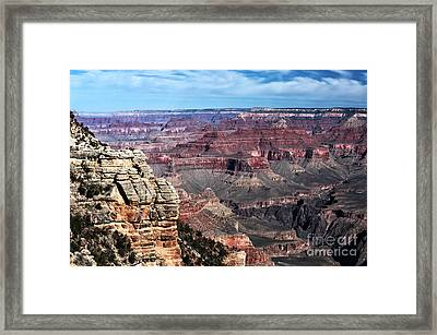 Rocks Of The Canyon Framed Print by John Rizzuto